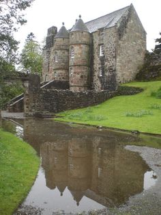 Rowallan (Old) Castle Scotland - Poss birth place of Elizabeth Mure (died before May 1355) mistress and then wife of Robert, High Steward of Scotland, and Guardian of Scotland (1338–1341 and from October 1346), who later became King Robert II of Scotland.