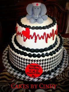 Image detail for -Graduating from the University Of Alabama Nursing School. The cake ...