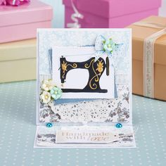 Sewing machine card from Papercraft Inspirations 155