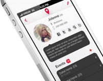 Partner Tracker App by Martin Schurdak, via Behance