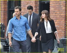 Jamie Dornan & Dakota Johnson Film New 'Fifty Shades' Scene with Brant Daugherty!