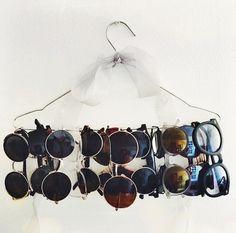 Un #diy muy sencillo para tener tus #gafasdesol siempre a la vista.
