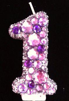 Glamour Princess 1st Birthday Candle Custom by LittleMissMraz