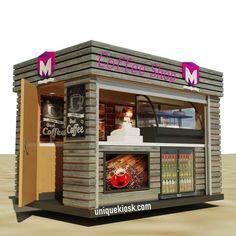 Kiosk Design, Store Design, Cafe Design, House Design, Waffle Pizza, Food Kiosk, Portable Food, Café Bar, Food Stands