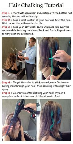 Great idea for temporary hair coloring
