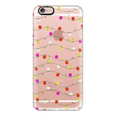 iPhone 6 Plus/6/5/5s/5c Case - Christmas Lights Candy Colored Bright... (5.280 ISK) ❤ liked on Polyvore featuring accessories, tech accessories, iphone case, apple iphone cases and iphone cover case