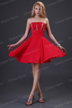 short prom gown evening party dress red Beads sequins size18 20 | eBay £25.38