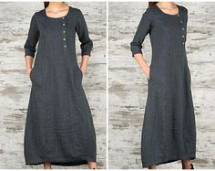linnen jurk lang
