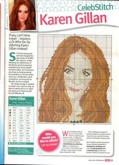 sandylandya@outlook.es Karen Gillan Cross Stitch Chart