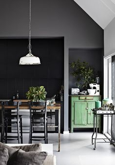 grey, green, white - industrial interior botanic woontrend 2015