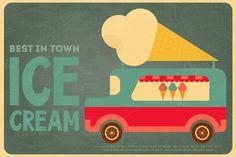 Ice Cream Posters by elfivetrov on Creative Market