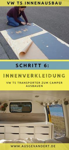 Transporter interior work: build interior trim yourself - Van Life Van Interior, Interior Work, Interior Trim, T5 Transporter, Vw Camper, Brother Sister Poses, Vw T4, Van Home, Campervan
