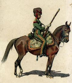Private of the elite company from 5th Mounted Riflemen Regiment. Fig. Z. Rozwadowski.