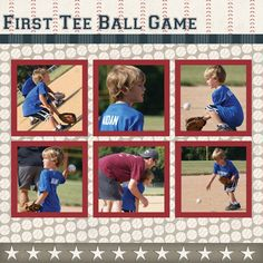 Echo Park Baseball Kit - Scrapbook Page