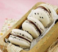 Nutella Macaron with Sesame #recipe