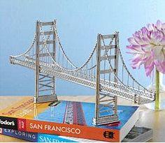 CitySouvenirs.com - Golden Gate Bridge Wire Model, $44.99 (http://www.citysouvenirs.com/golden-gate-bridge-wire-model/)