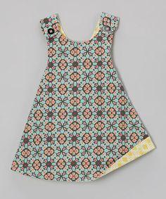 Look at this #zulilyfind! Green & Orange Reversible Jumper - Infant, Toddler & Girls #zulilyfinds