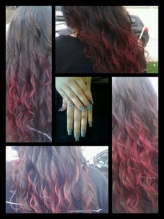 Red ombre and full set