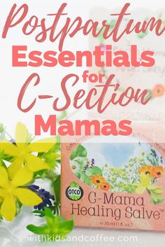 C-Section recovery Essentials for postpartum healing after childbirth. These are the items to buy before having a csection.   If you're trying to figure out how to prepare for a scheduled csection, this list is for you.