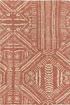 Hand-knotted jute rug from Surya inspired by African textiles, with a hand drawn feel in an earthy color palette (MDA-1000).