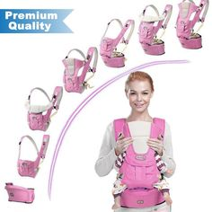 e134914eddc BABY CARRIER with HIP SEAT for 0-36 Months Ergonomic Baby Carrier Hiking  Backpack Up