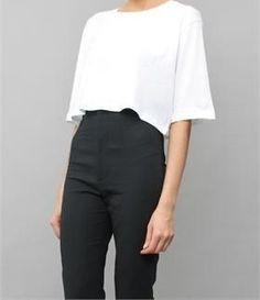 High waist & crop top