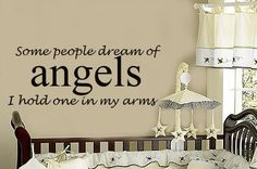 Hold Angels in my Arms Baby Nursery Vinyl Wall by TheBabyDolls, $18.00