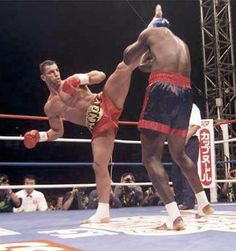Andy Hug Kick Box This is image of a great fighter Andy Hug.I have choose this image because Andy is a legend of kickboxing. As a child i was watching his fights and that had big influence on me and my first steps in Muay Thai. I just wanted to be like him.Also this image represent one of 8 limbs, in this case it is a head kick.