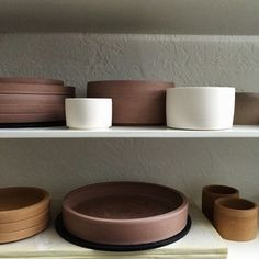 I always like the funny pinks and oranges of unfired wares.