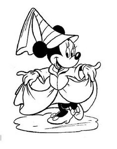 minnie mouse coloring pages yahoo image search results - Coloring Pages Disney Minnie Mouse
