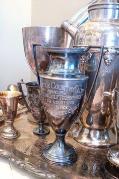 Nothing more beautiful than a beautiful, #antique #Golf Trophy Cup! From 1915- New Castle Country Club
