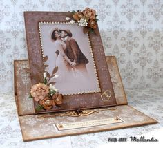 Kartka - ramka na zdjęcie ślubne