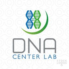 Dna Center Lab - Modern logo, a DNA forming a center lab.[$325]
