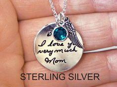 Handwriting necklace Hand writing necklace by Hellomyflower Handmade Silver, Handmade Jewelry, Etsy Jewelry, Jewelry Accessories, Women Accessories, Memorial Jewelry, I Love Jewelry, Summer Jewelry, Discount Jewelry