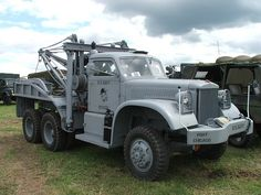 Old Heavy Duty Navy Tow Truck http://www.albertarosetowing.ca/