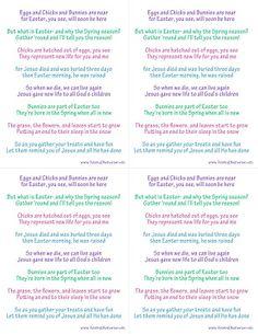 Raising Memories: True Meaning of Easter Poem (Easter Symbols)