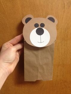 Fuzzy Brown Bear Craft Paper And Glue Crafts Pinterest