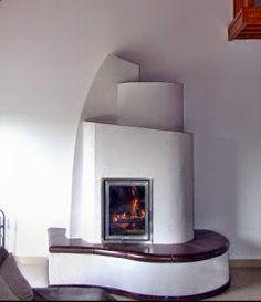 organikus cserépkályha Rustic Walls, My Dream Home, Sweet Home, House Design, Stoves, Modern, Fireplaces, Organic, Home Decor