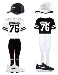 """Lisa and Lena"" by jaysiry20 on Polyvore featuring Boohoo, Miss Selfridge, New Look and NIKE"