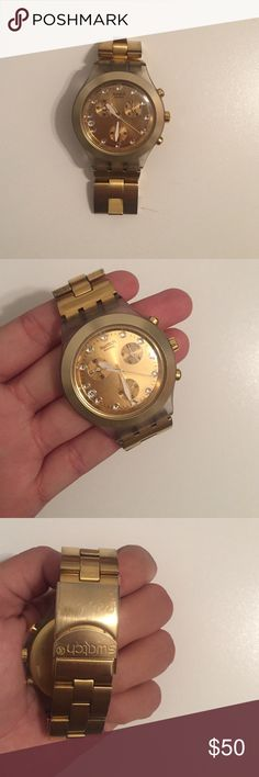 Gold Swatch Watch Gold swatch watch perfect condition, ready to ship. Swatch Accessories Watches