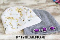 DIY Embellished Beanie | Henry Happened