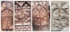 Bench Ends at Lapford Church, where Devon author Anne Dowriche lived for a while with her husband who was rector of the parish. Visit Devon, Writers, Texts, Bench, Husband, Author, Places, Women, Authors