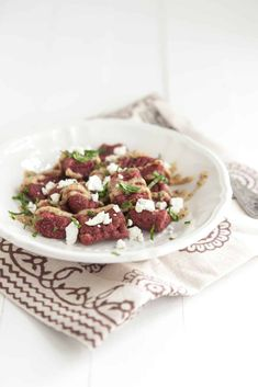 A delicious beet recipe that comes together quickly and is a show stopping, colorful meal.