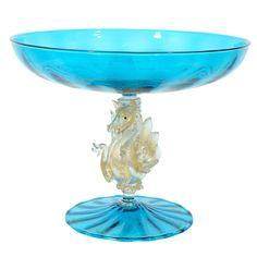 A Venetian Glass comport (Murano) Venetian Glass, Antique Glass, Cut Glass, Glass Art, Inspiration Art, Tiffany Glass, Vases, Glass Molds, Italian Art