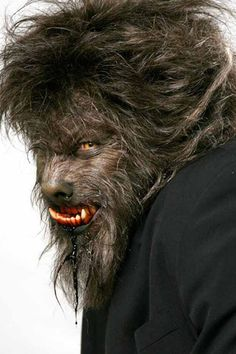 Special effects master Rick Baker in test makeup for The Wolfman (2010).