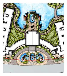 water fountain entry, gateway, fountain gateway, classic entrance