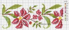 Cross Stitch Borders, Cross Stitch Flowers, Cross Stitch Charts, Cross Stitch Designs, Cross Stitching, Cross Stitch Embroidery, Hand Embroidery, Loom Weaving, Christmas Cross