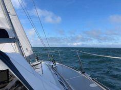 Retourtje Boulogne sur Mer  Zeezeikte aan boord van Uisge Beatha als we onderweg zijn naar St. Valery sur Somme.