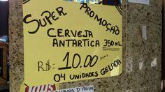 Cartaz de buteco carioca