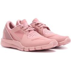 Adidas by Stella McCartney Altaya Sneakers ($145) ❤ liked on Polyvore featuring shoes, sneakers, pink, adidas footwear, pink sneakers, adidas sneakers, adidas shoes and adidas trainers